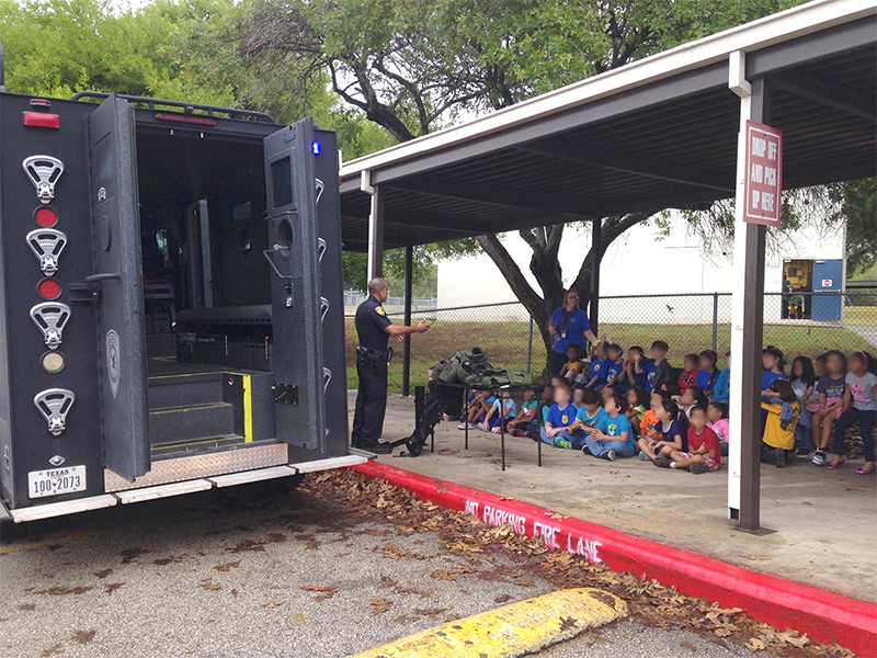 Indoctrination: Cops Show MRAP, Militarized SWAT Gear Off to Kindergarteners