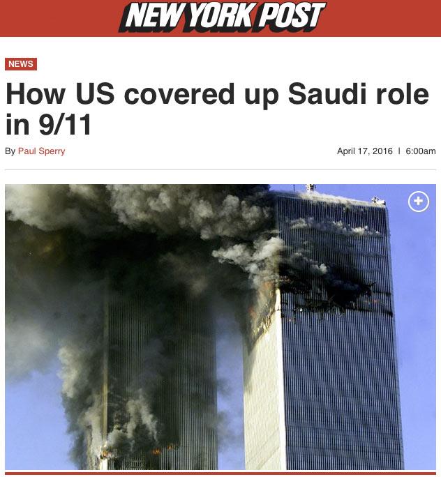U.S. Coverup of Saudi 9/11 Role Proves Complicity
