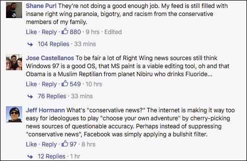 Liberals Celebrate Reports of Facebook Blacklisting Conservative News