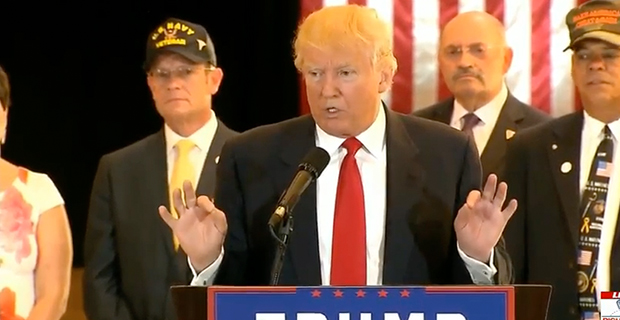 Trump Blasts Press Over Charitable Donations to Vets