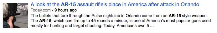 Orlando Shooter DID NOT USE AR-15 Rifle - Despite False Media Reports