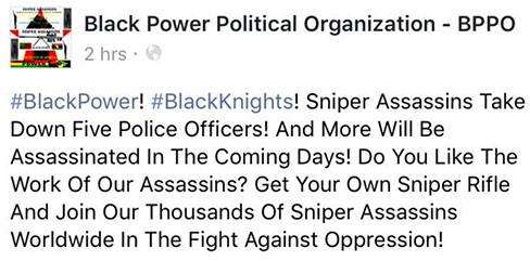 Black Power Group Claims Responsibility for Killing Police in Dallas