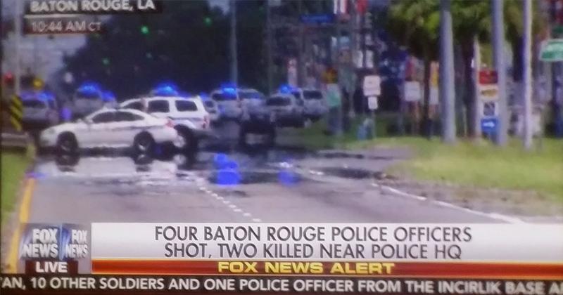 Three Cops Dead after Ambush in Baton Rouge, One Attacker Down