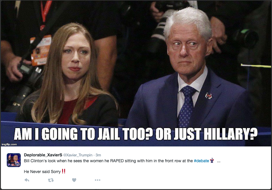 Bill Clinton Meme. Am I going to jail too? Or just Hillary?