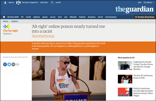 Report: The Guardian Publishes Fake News From Notorious Internet Troll