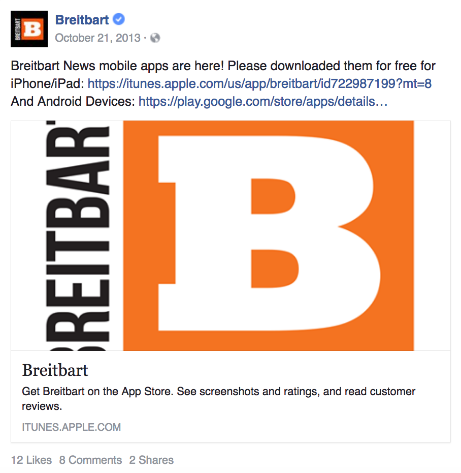 Report: Apple Purges Breitbart News App From iTunes Store