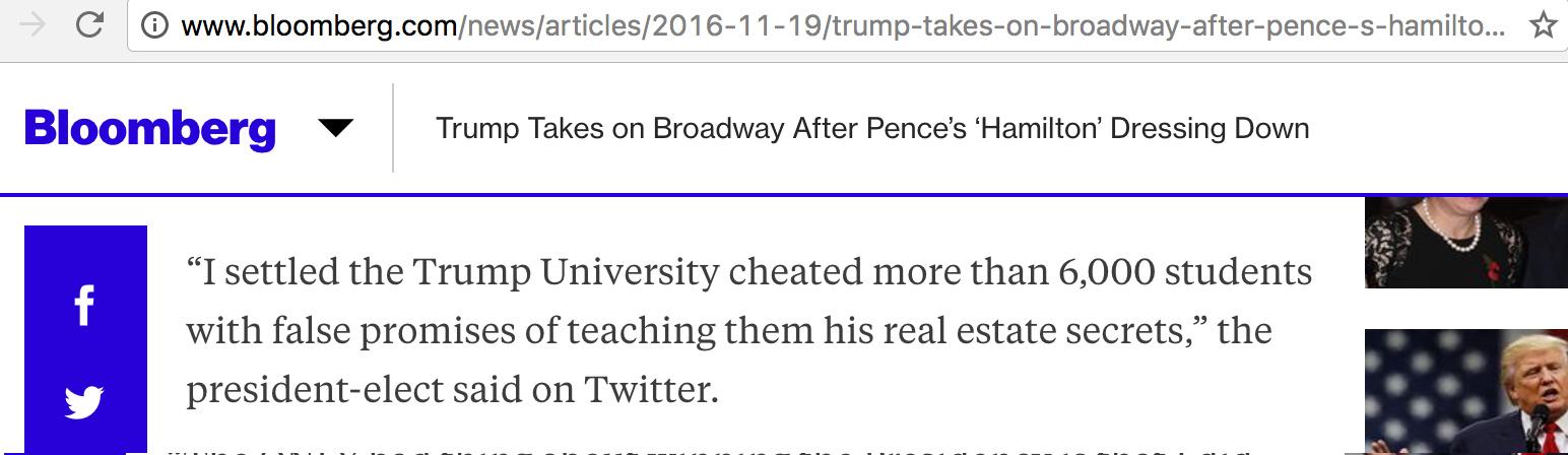 Fake News Alert: Bloomberg Editor Creates Libelous Trump Tweet Out of Thin Air!