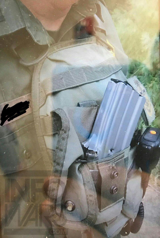Shock Photo: Border Agent's Life Saved by Gun Magazine, Bulletproof Vest