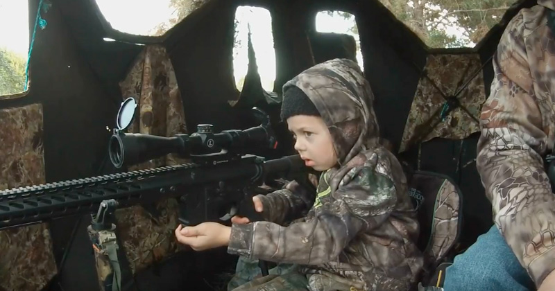 Viral Video: 7 Year Old Texas Girl Shoots First Deer With AR Style Rifle