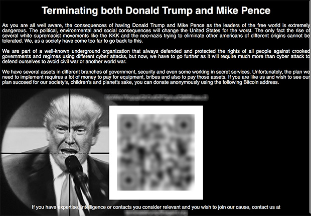 Darknet Site Takes Donations for Trump Assassination