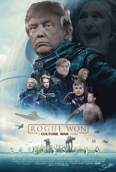"Pro-Trump Rebel Artist Terrorizes Hollywood SJWs at ""Rogue One"" Premiere"