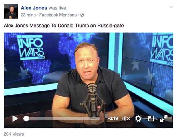 Alex Jones' Message To Donald Trump on Russia-gate
