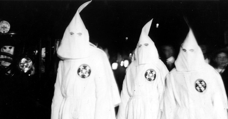 College Student Mistakes Lab Equipment for Klan Rally
