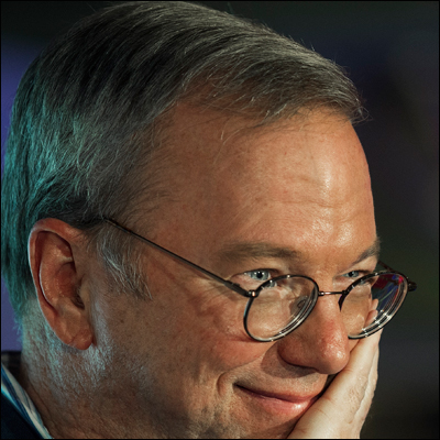 Eric Schmidt - Executive Chairman, Alphabet, Inc. PAUL J. RICHARDS/AFP/Getty Images