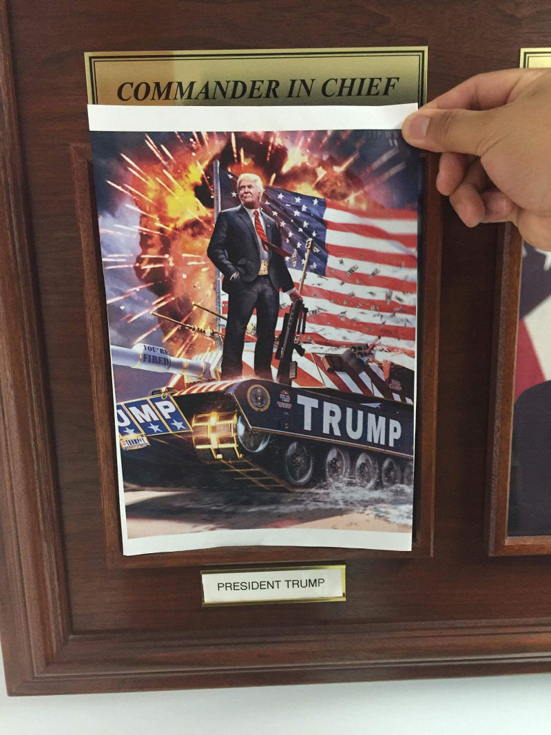 U.S. Military Bases Replacing Obama Portraits With Trump, Mattis Memes