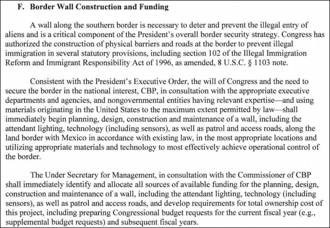 IT'S HAPPENING! DHS Memo Orders IMMEDIATE Construction of Border Wall