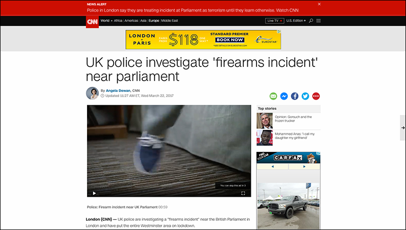 "CNN Downplays ISIS-Style Parliament Attack as ""Firearms Incident"""