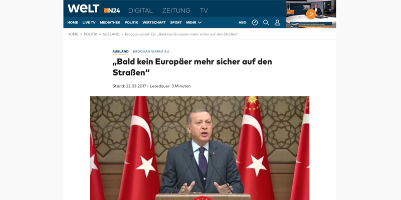 "German MP: Erdogan a ""Terrorism Godfather"""
