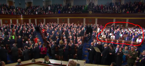 Bitter Democrats Remain Seated, Sullen During Tribute to Slain SEAL