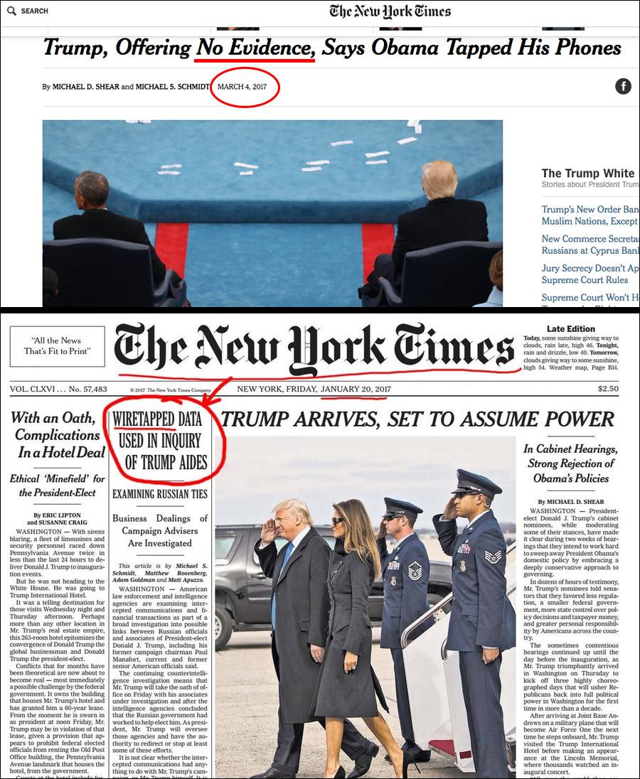 Flashback: NYT Admits Wiretaps Used Against Trump