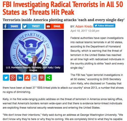 FBI Launches Terrorist Probes in All 50 States
