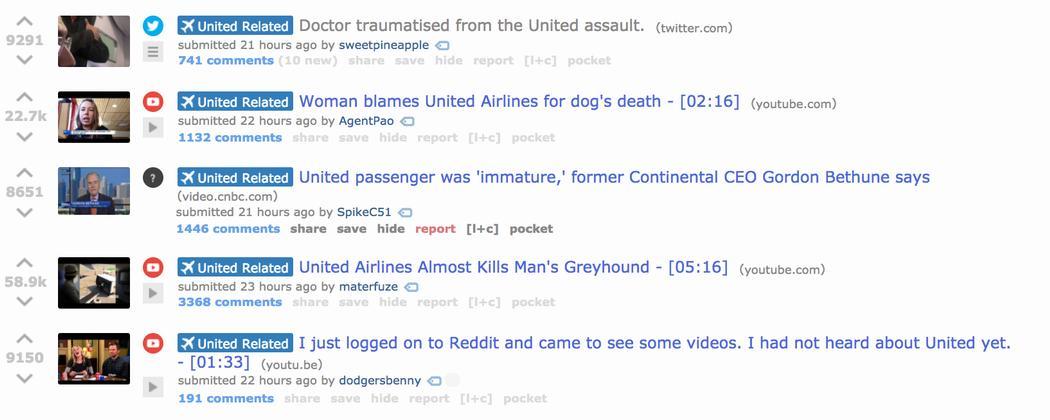 Reddit Revolts After Moderators Delete United Airlines Video