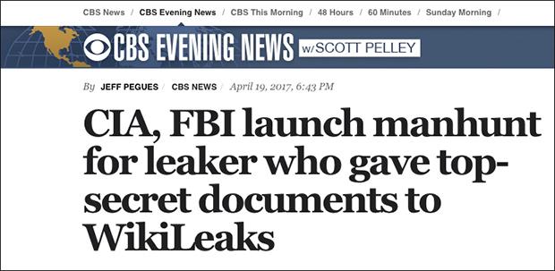 Manhunt Underway for CIA 'Vault 7' Leaker