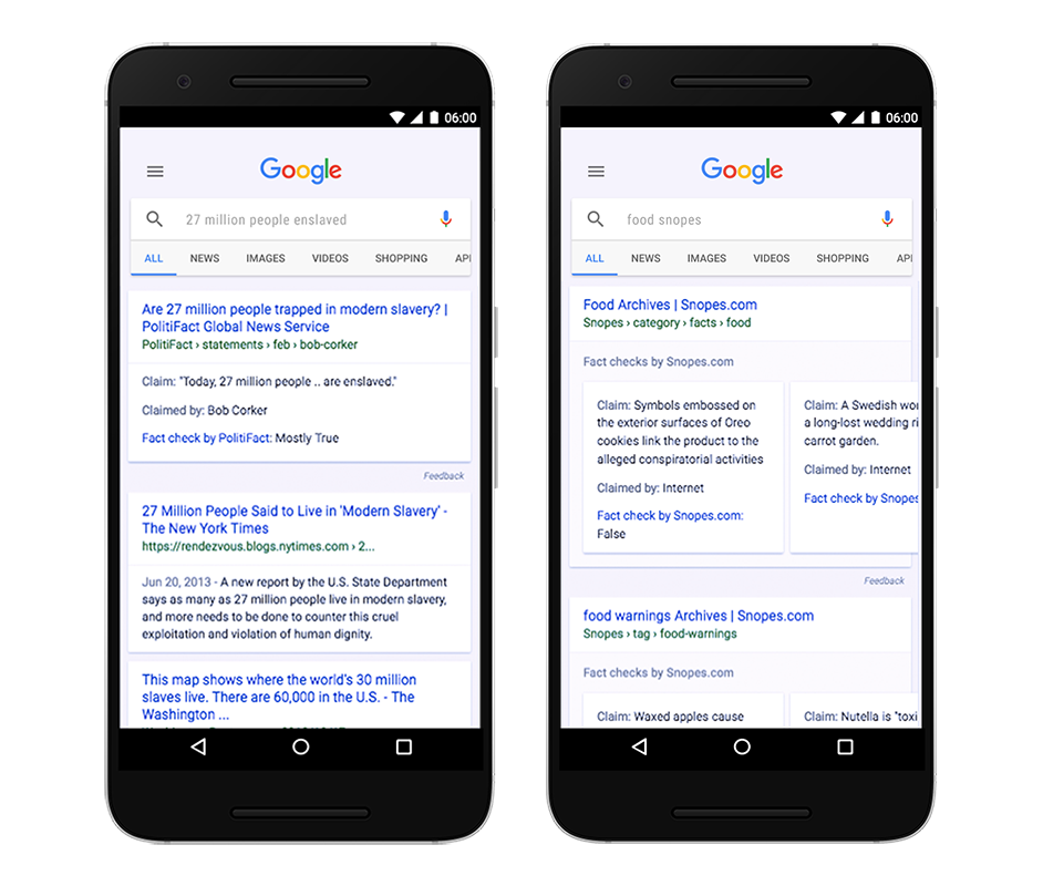 Google Fights 'Fake News' With 'Fact Check' in Search Results