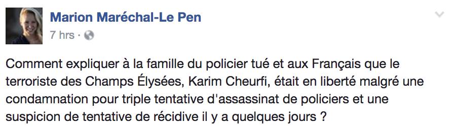 Le Pen Responds: Shut Down Paris Mosques to Stop Terror