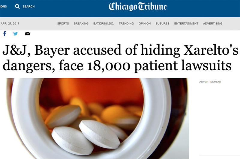 Blood-thinning Drug Xarelto Faces 18,000 Lawsuits
