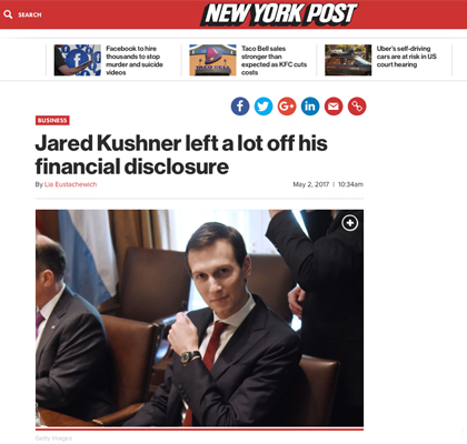Report: Kushner Hid Ties to George Soros