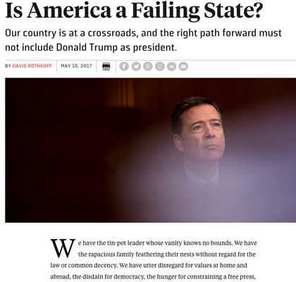 Deep State Pushes Coup Against Trump Over Comey Firing