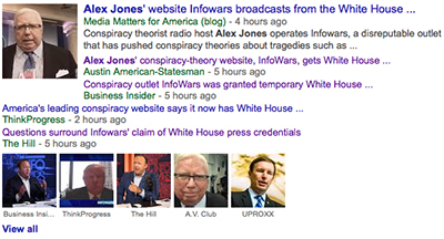 LOL: Mainstream Media Melts Down Over Infowars White House Credentials