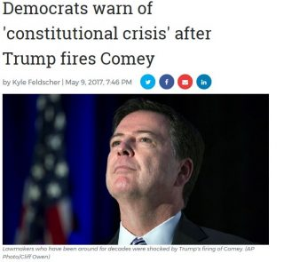 Dems Suddenly Care About Constitution Over Trump's Firing of Comey