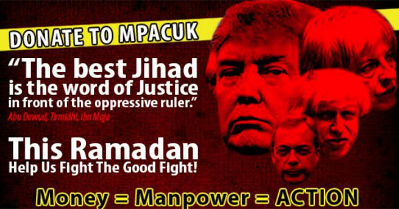 Leading Muslim Group Calls for Ramadan 'Jihad' Alongside Trump, Farage, May Headshots
