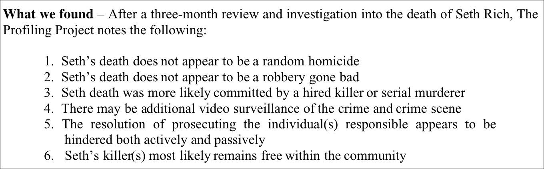 Independent Investigators: Seth Rich Murder WAS NOT a Random Homicide