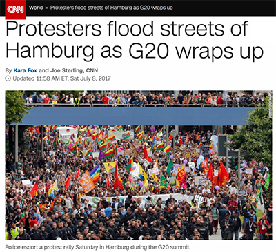 """CNN Claims G20 Protest Was """"Peaceful"""""""