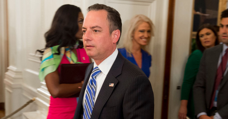 Breaking: White House Chief of Staff Reince Priebus Out, DHS Head Kelly In
