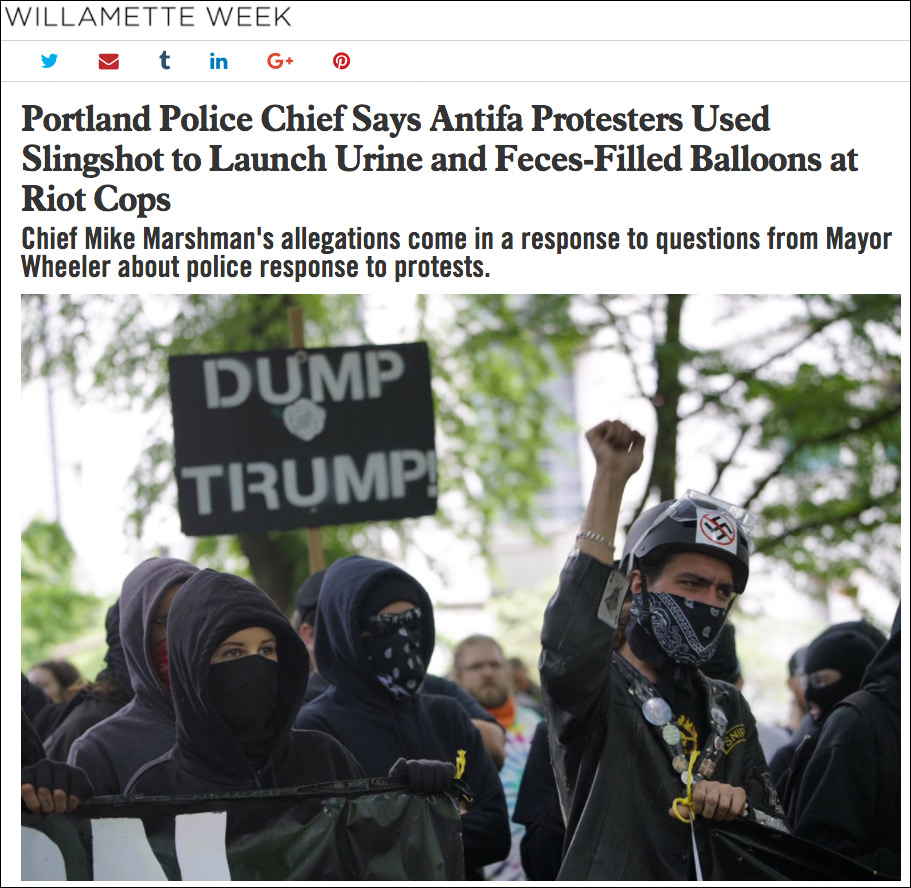Biological Warfare? Antifa Protesters Threw Bottles Filled with Sh*t, Piss at White Rally