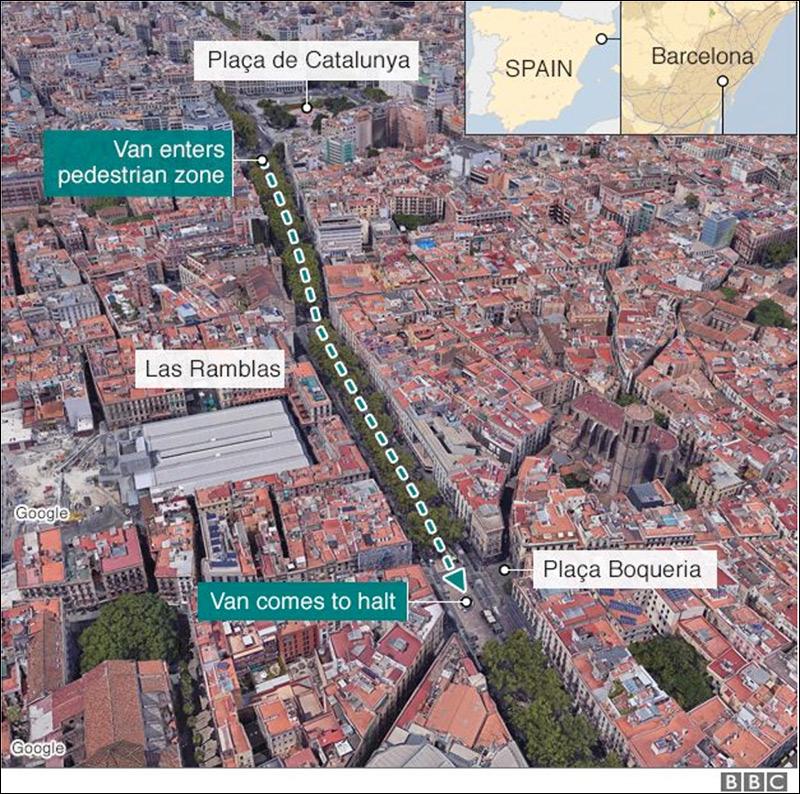 Breaking: Van Smashes into Crowd in Barcelona, 13 Dead, Multiple Injured