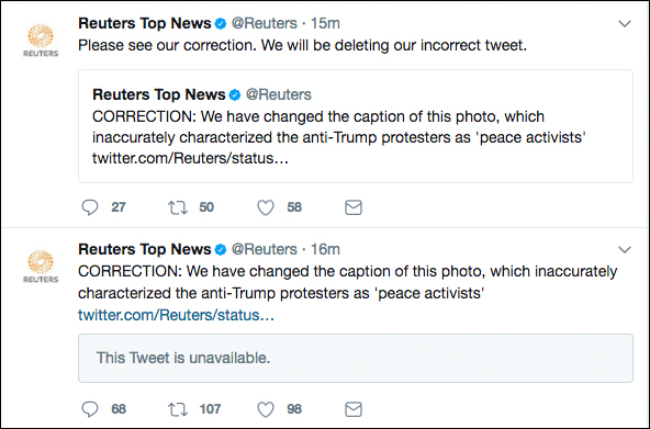 Fake News: Reuters Issues Retraction after Labeling Antifa 'Peace Activists'