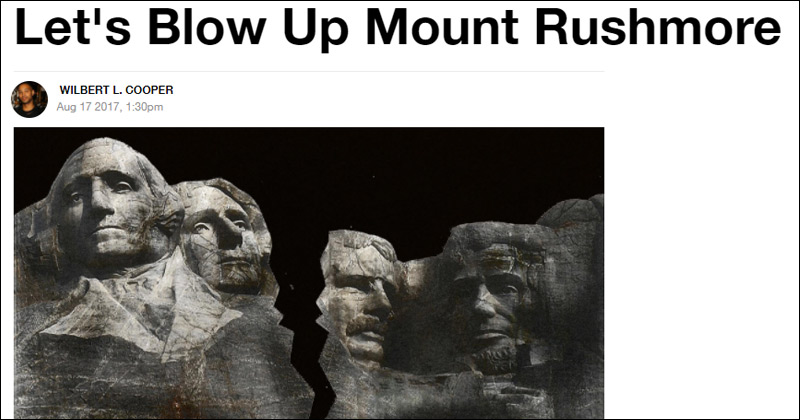 Vice: 'Let's Blow Up Mount Rushmore'