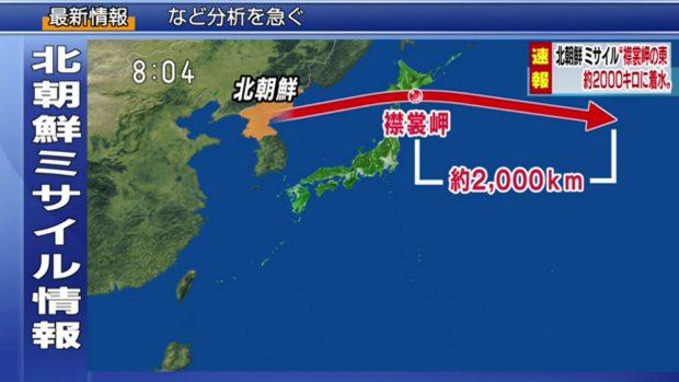 Breaking: North Korea Fires Ballistic Missile Over Japan