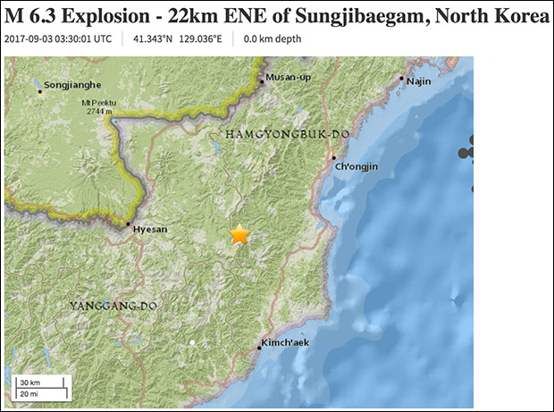 Earthquake at North Korea's Nuclear Test Site Following Hydrogen Bomb Announcement
