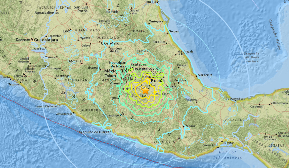 Videos, Photos: Mexico Devastated by 7.1 Magnitude Earthquake