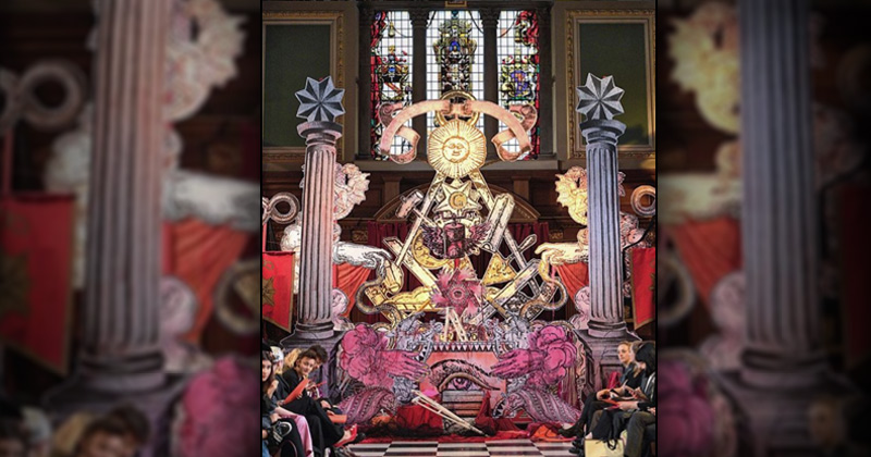 Illuminati-themed Fashion Show Held at London Catholic Church
