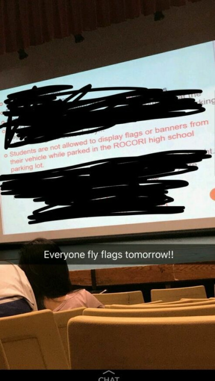 Students Defy High School Mandate Prohibiting Display of American Flag