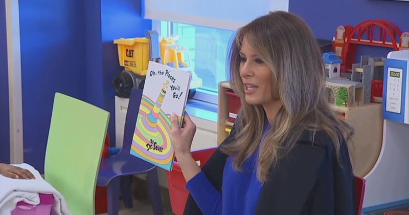 Librarian Rejects 'Racist' Dr. Seuss Books Donated by Melania Trump