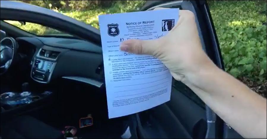 Infowars Reporter Car Vandalized, Equipment Stolen At Berkeley Protest