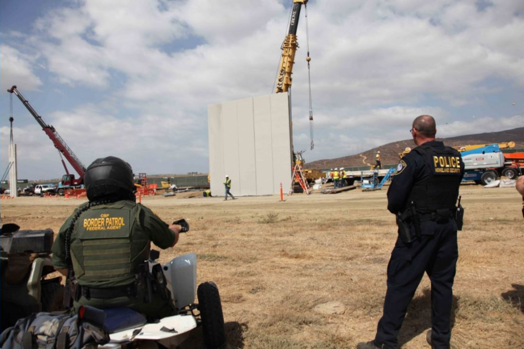 It's Here: Border Wall Prototype Construction Begins